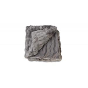 Plaid gris au toucher ultra doux, ultra moelleux, ultra douillet - décoration chic et cosy - Calinou