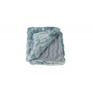 Plaid nuances de bleu, gris, vert, au toucher ultra doux, ultra moelleux, ultra douillet - décoration chic et cosy - Calinou