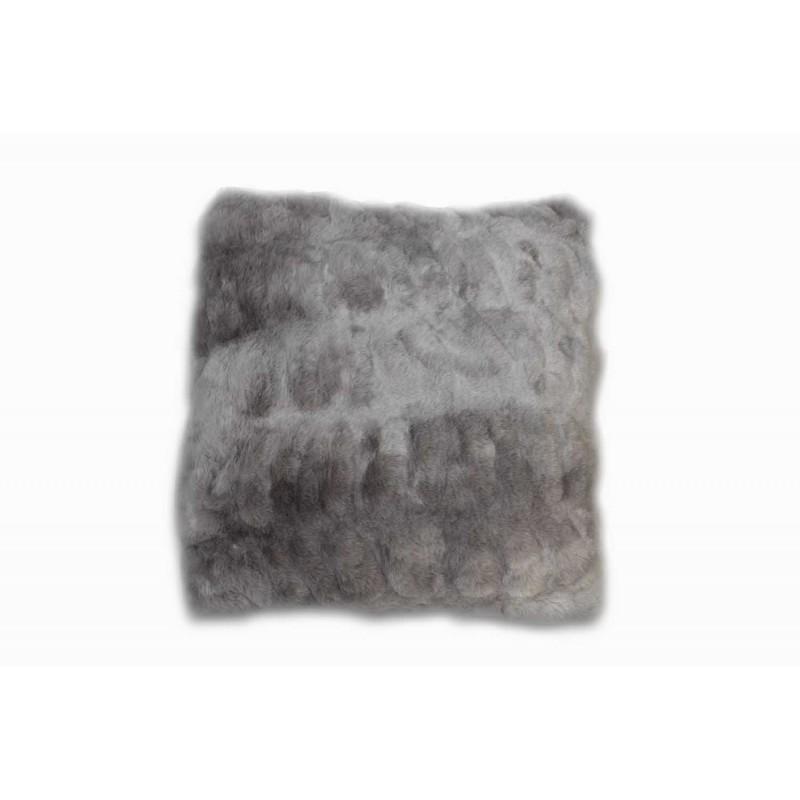 Coussin gris au toucher ultra doux, ultra moelleux, ultra douillet - décoration chic et cosy - Calinou