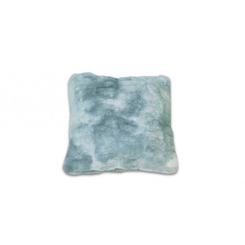 Coussin nuances de bleu, gris, vert, au toucher ultra doux, ultra moelleux, ultra douillet - décoration chic et cosy - Calinou