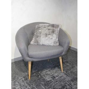 lot de 2 Coussins gris au toucher ultra doux, ultra moelleux, ultra douillet - décoration chic et cosy - Calinou