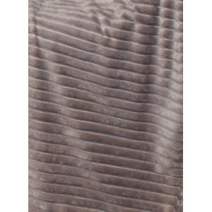 Plaid taupe marron glacé texturé velours - douceur velours polaire - Boreal