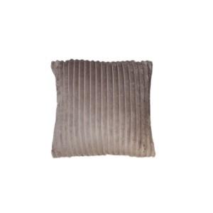 Coussin taupe marron glacé texturé velours - Boreal