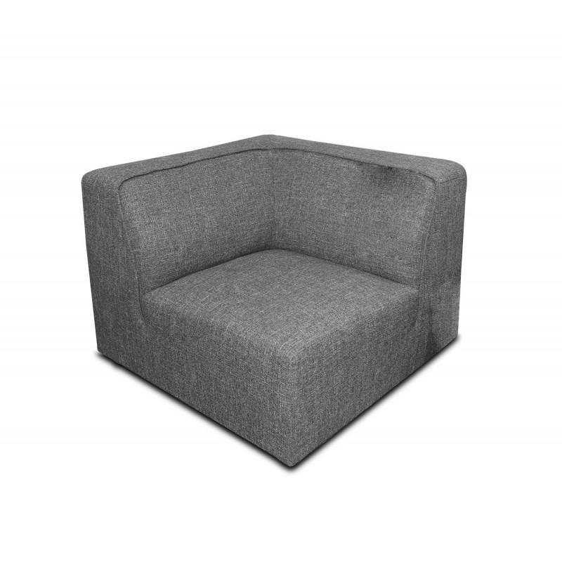 Angle module pour canapé composable modulable gris - design contemporain tendance - Milan