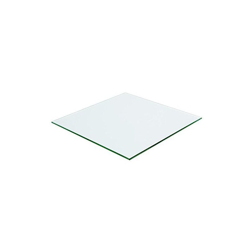 Plateau Carre 100x100 En Verre Trempe Transparent