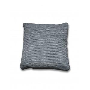 Coussin 40 x 40 cm tissu gris foncé - décoration moderne intemporelle - DORA