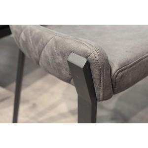 Chaise en Simili gris et piétement en métal - CERAMIK 02