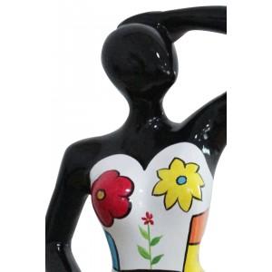 statue femme debout fleurs multicolores en résine - LADY BLOSSOM