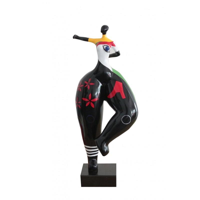 statue femme à motifs multicolores en résine - LADY EYE