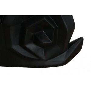 statue escargot noir mate formes géomètriques en résine - ARNAUD