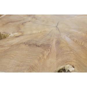 Table basse 100 cm en racine de teck -meuble style exotique,cosy naturel, chalet chic -TEAK 04