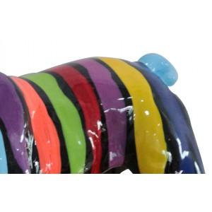 statue chien multicolore en résine - MERLIN
