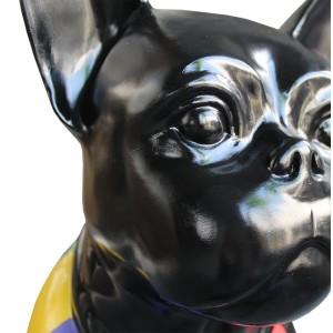 statue chien multicolore en résine - MARTIN