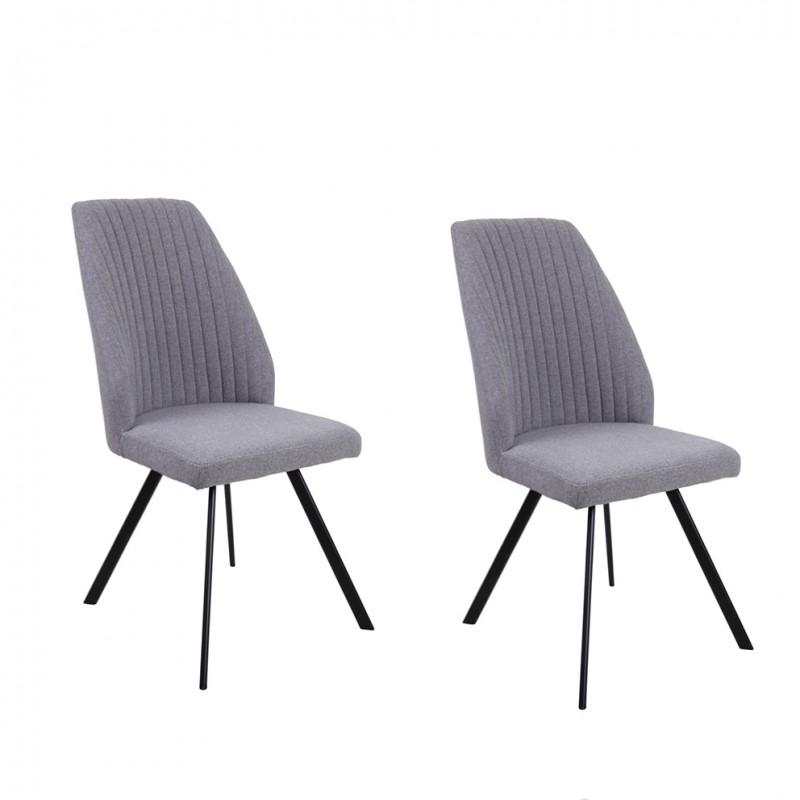 Lot 2 chaises - Gris - FUZO