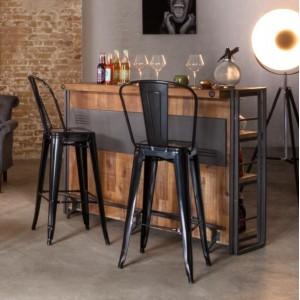 Bar métal & acacia – WORKSHOP
