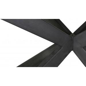 Table de repas extensible céramique 160/200 cm gris anthracite rectangulaire - STARLIGHT