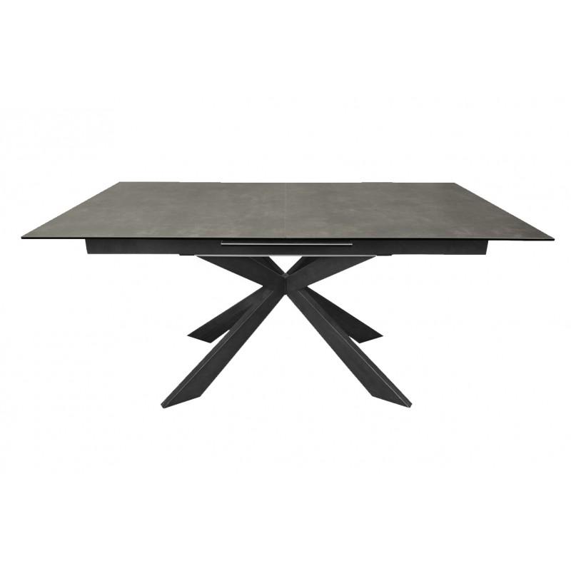 Table de repas extensible céramique 160/200 cm gris anthracite rectangulaire INUSABLE - STARLIGHT