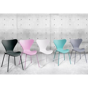 4 chaises grises empilables - Pop
