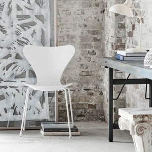 4 chaises blanches empilables - Pop