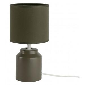 Lampe à poser en céramique avec abat-jour vert foncé - DIEGO