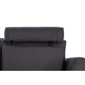 Canapé d'angle droit tissu gris anthracite modulable - ALIX