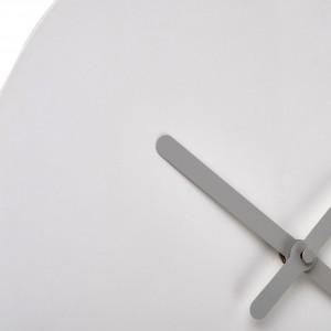 Horloge murale fantaisie silencieuse en fer blanc diamètre 35 cm aiguilles métal - Minimaliste - CRUNCH