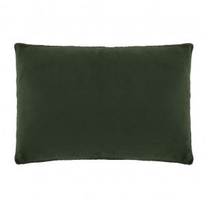 Housse de coussin rectangulaire verte foncée effet polaire 40x60 cm - COZY