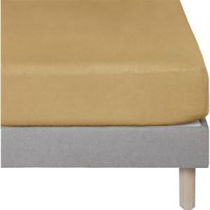 Drap housse jaune ocre en lin lavé  90x140 - lit enfant et décoration chambre - Uzès