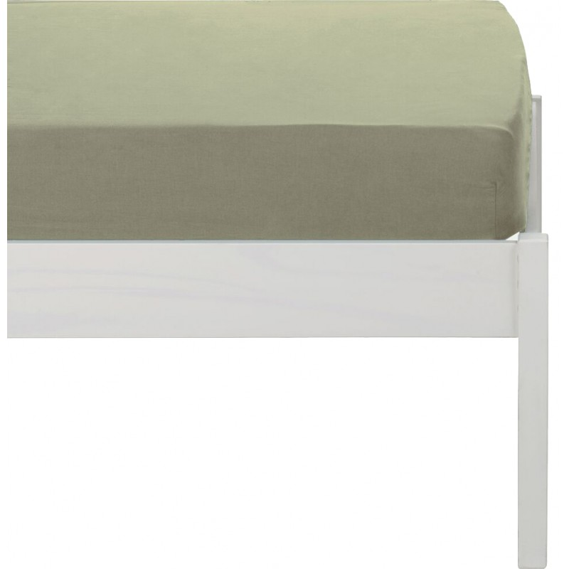 Drap housse beige en lin lavé 90x170 - Uzès