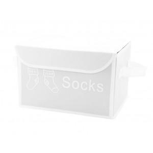 Boite pour dressing à couvercle Socks Blanc - SPACE