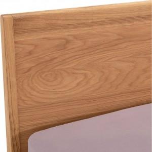 Lit 2 places 140x200 cm décor chêne clair - style rétro - JUBILE 1683