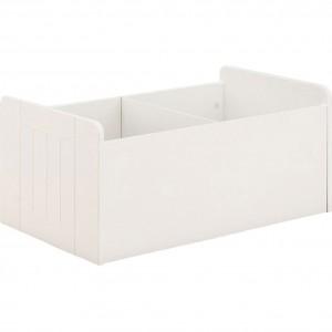 Coffre rangement 2 compartiments pour chambre d'enfant blanc - MINOT 6286