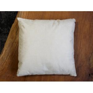 Lot de 2 coussins carrés 40 cm en tissu beige déhoussable imprimé animal - Cerf