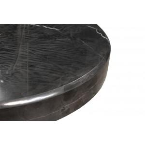 Lampadaire déporté chromé design socle marbré - GLOBUS