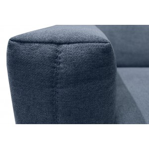 Canapé relaxation 2.5 places tissu BLEU motorisé - style  scandinave - Qualité Premium Relax - POLO