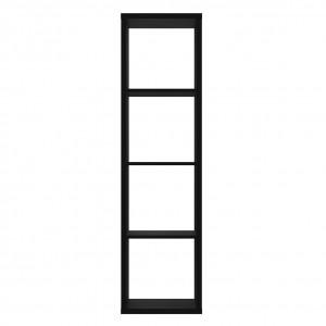 Etagère colonne 4 casiers noir mat H.142 cm - CLASSICO