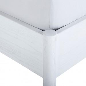 Lit blanc 2 places en frêne plaqué et contreplaqué 160 x 200 cm  - PADO 4527