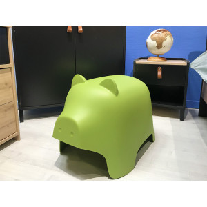 Chaise enfant vert  - COCHON