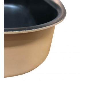 Plat à four rectangulaire en aluminium rose argile 40X27 cm - IRON