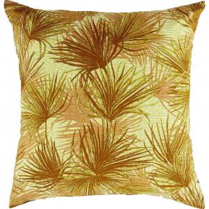 Housse de couette en coton motif palmes jaunes 260 x 240 cm et 2 taies d'oreiller -  PALM 8569