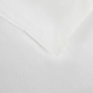 Housse de couette rayée en satin de coton blanc 240 x 220 cm - FILO 8583