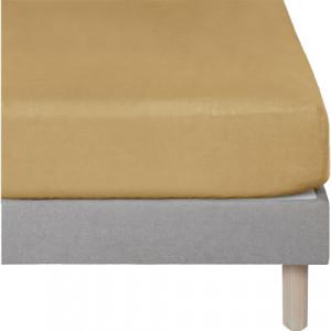 Lot de 2 draps housse jaune ocre en lin lavé  90x140 - lit enfant et décoration chambre - Uzès
