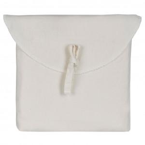 Lot de 2 taies d'oreiller en coton brodé blanc cassé 50 x 70 cm - BROD 5928