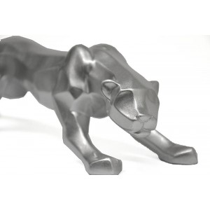 Statue Panthère Chrome