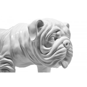 Statue dog blanc debout