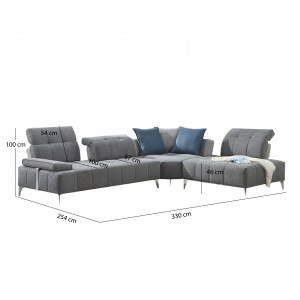 Canapé d'angle droit - DIAMANT