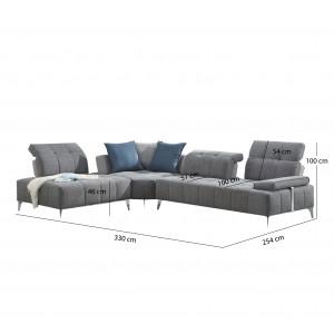 Canapé d'angle gauche - DIAMANT
