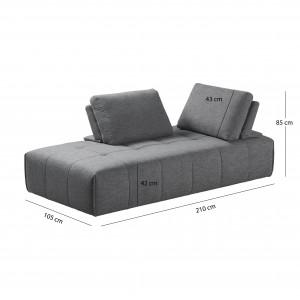 Canapé d'angle modulable gauche ou droit  - SUDOKU