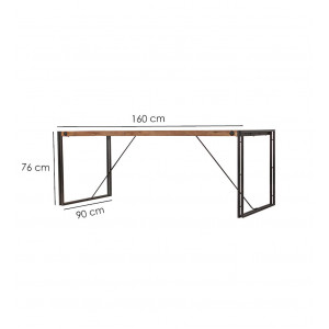 Table fixe bois & acacia 160 x 90 – WORKSHOP