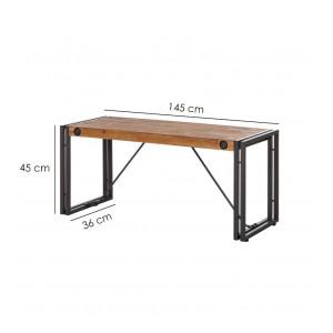 Banc d'assise design loft 145 cm - WORKSHOP
